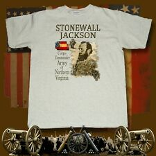Stonewall Jackson American Civil War themed printed ash t-shirt