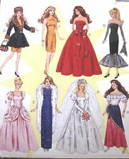 Vtg 90s Barbie Fashion Doll Dress pattern princess formal gown gypsy