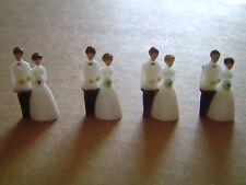 "24 pcs Plastic Tiny Small 1 1/8"" Wedding Couple Favors Decorations Cupcakes New"