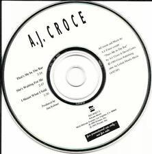 A.J. CROCE 3 Track SAMPLER 1995 PROMO DJ CD Son of JIM Jim Keltner Produced AJ