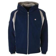 Champion Fleece Full Zip Hoody Sweatshirt Blue 100% Authentic