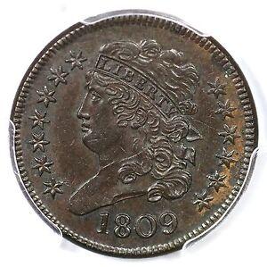 "1809 C-4 R2 PCGS MS61BN ""Circle in 0"" Classic Head Half Cent Coin 1/2c"