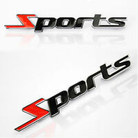 Sports Word letter Chrome metal Car Styling Sticker Emblem Badge Decal Car Decor