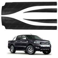 Side Door Window Cladding Trim Matte Black Ford Ranger T6 Mk2 2015 - 2016 2017