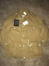 New NWT Maison Kitsune Safari Army Military Khaki Jacket Coat Size Xl Xlarge