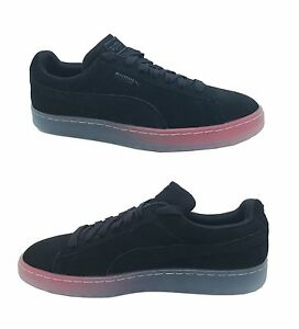 New Puma Men's Fashion Suede Classic Leather Formstrip Sneakers Shoes Black