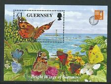 GUERNSEY1997 ENDANGERED SPECIES BUTTERFLIES AND MOTHS UNMOUNTED MINT. MNH