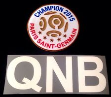 2015 PSG Paris LIGUE 1 CHAMPIONS & QNB LOGO Football Soccer Badge Patch Set