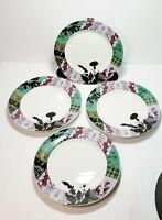 "Fringe Studio Ireland 8"" Dessert Salad Plates Set Of 4 In Box Porcelain Germany"