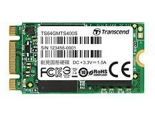 64GB Transcend M.2 NGFF 2242 42mm SATA III 6Gbps SSD MTS400 MLC Flash 560MB/seg.