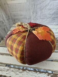 Folk art country pumpkin Thanksgiving fall decor home plush