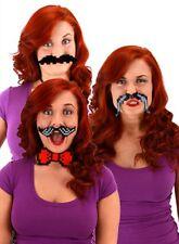 Set of 3 Pixel 8 Bit Moustache Kit Costume Mustache Carnival Mardi Gras