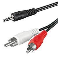 1m Klinke Cinch AUX Audio Kabel 3,5mm Klinkenstecker auf 2* Chinch RCA Stecker