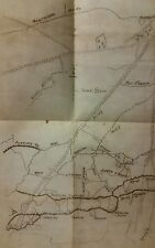 WW1 SOMME. HAND DRAWN MAP OF EAST SURREY REG.  1ST JULY OBJECTIVES AT MONTAUBAN