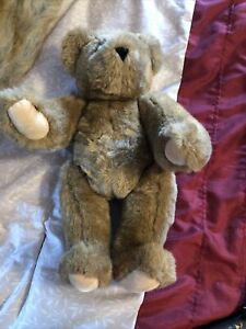 Jointed Tan Vermont Teddy Bear Company 16 inches tall EUC fast shipping