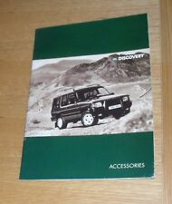 Land Rover Discovery Accessories Brochure 1995-1996