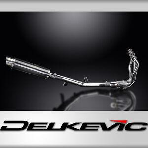 "Kawaski Versys 1000 LT Full 4-1 DL10 14"" Carbon Round Muffler Exhaust 15-17 18"