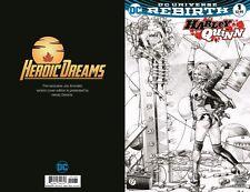 Harley Quinn #1 Gorgeous Jay Anacleto Limited B&W Variant Heroic Dreams