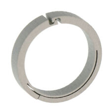 Titanium Spring Clip Round Carabiner Key Ring Outdoor O Hook 18mm Silver
