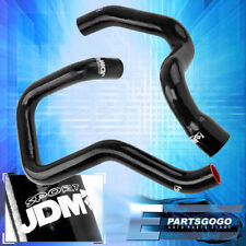 For 84-05 Jeep Cherokee XJ 4.0L 242 Silicone Radiator Coolant Hose Kit Jdm Black