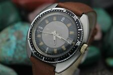 "Vintage SILVANA 25 Jewel Automatic Stainless Steel ""UFO"" 40mm Men's Diver Watch"