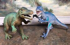 Dinosaur Toy Lot/2 Pvc Action Figure Allosaurus Velociraptor Boley Major 6-7.5�