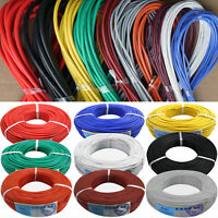 11 12 13 14 15 16 17 18AWG Flexible Silicone Wire Color Selectable 50M Lot