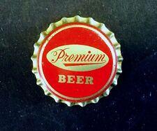 VINTAGE UNUSED cork lined cap crown PREMIUM beer can bottle cone top ale label