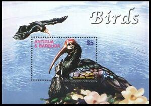 Bald-headed Ibis (Geronticus eremita), Antigua and Barbuda 2003 MNH MS