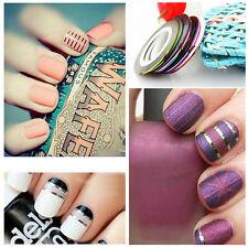 Multi Color Acrílico Uñas Cintas Ebay