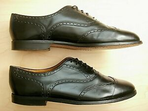 Nice COLE HAAN WINGTIP MADE IN USA BLACK LEATHER MEN'S DRESS OXFORDS SHOES 12