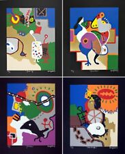 Famous Korean Artist,Seong Auh, 4 Mixed Media Screen Prints 'American Dream II'