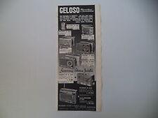advertising Pubblicità 1963 GELOSO RADIO SIRIO/ORIONE/LYRA/EXPLORER/TV-SONIC