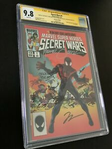 Secret Wars #1 Miles Morales 4X SS CGC 9.8 Signed Shooter, Zeck, Hickman, Beatty