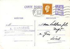 """89 BEAUMONT """" MARACHE, INDUSTRIEL """" CARTE POSTALE ENTIER 1945"""