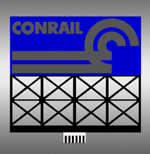 CONRAIL RR BILLBOARD ANIMATED SIGN - O-SCALE- LIGHTS, FLASHES & MORE-SUPER!