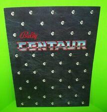 Bally CENTAUR 1981 Original NOS Flipper Game Pinball Machine Foldout Sales Flyer
