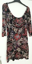 MISO FLORAL TUNIC DRESS SIZE 12 AUTUMN / WINTER NEXT DAY DELIVERY