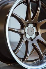 Aodhan DS02 18x9.5 +15 18x10.5 +22 5x114.3 Bronze Genesis Coupe G35 350z 370z