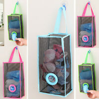 Wall Door Hanging Mesh Organizer Bags Holder Container Closet Storage Bag Pocket