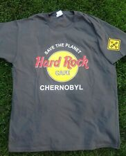 Hard Rock Cafe CHERNOBYL T-shirt and pin. Graphite. Size XXL