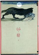 Horst Janssen Mondnacht Poster Kunstdruck Bild 79x52cm - Kostenloser Versand