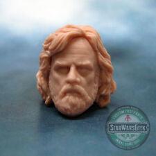 "ML241 Luke Skywalker Last Jedi Cast head sculpt use w/6"" Star Wars Black Series"