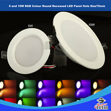 5 W y 10 W RGB Color Redondo Empotrable LED Panel 98 Mm x 35 Agujero Size 7