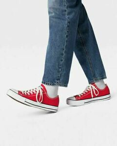 Converse All Star Low Top Chuck Taylor Ox Shoe Red Canvas Unisex Mens 5 Womens 7