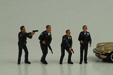 Cop Officer Police Polizei 4 Figurines Figur figures Set 1:24 American Diorama