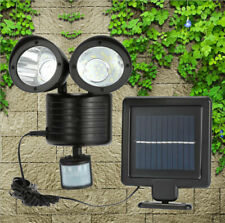 PIR Motion Sensor Detection Lamp Double Head Wall Solar Charged Light Waterproof