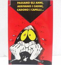 """BIGLIETTO DI BUON COMPLEANNO """"CATTIVIK""""-MISURA cm. 16,8X11,5-con BUSTA"""