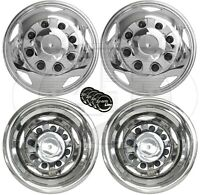 """GM Chevy 3500HD 17"""" Stainless Steel Dually Wheel Simulator Set for 2011~Current"""