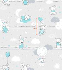 Baumwollstoff Kinderstoff Hase Bär  Breite 160cm ab 50 cm